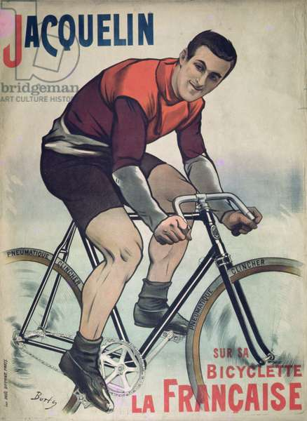 Poster advertising Edmond Jacquelin (1875-1928) on cycle 'La Francaise', 1900 (colour litho)