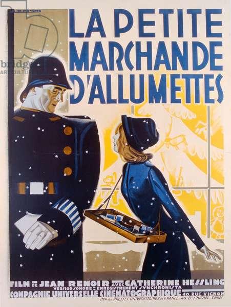 Poster advertising the film 'La Petite Marchande d'Allumettes' ('The Little Match Girl'), 1928 (colour litho)