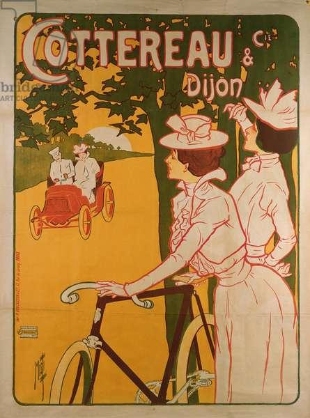 Poster advertising Cottereau & Dijon bicycles (colour litho)