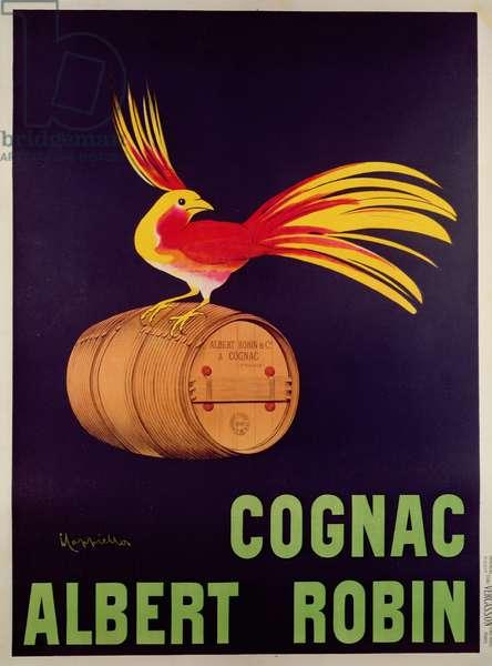 Poster advertising 'Albert Robin Cognac' (colour litho)