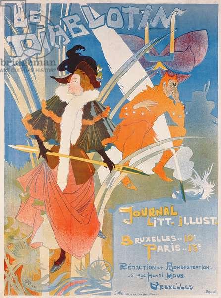 Cover illustration of 'Le Diablotin' magazine (colour litho)