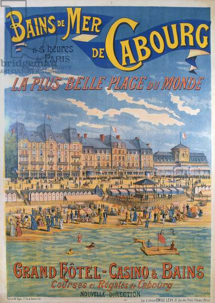 Cabourg poster (colour litho)