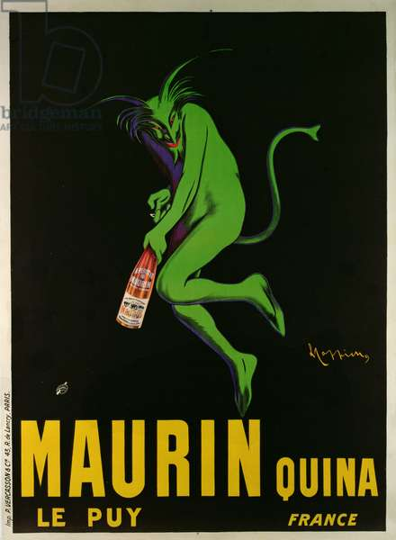 Poster advertising 'Maurin Quina', Le Puy, France (colour litho)