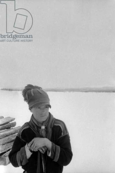 Lapp, during the travel in Swedish Lapland, Kiruna, March, 1939 (b/w photo)