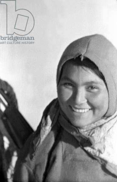 Doumidia, inuit companion of Paul-Emile Victor, fjord of Kangerdlugssuatsiak, Greenland, Autumn, 1936 (b/w photo)