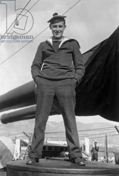Paul-Emile Victor (1907-1995) french explorer here at merchant navy national school in Marseille, France, June, 1928 (b/w photo)