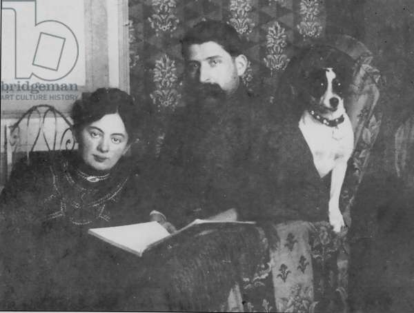 Éric and Laure, parents of Paul-Emile Victor, St-Claude, Jura, France, February 1907 (b/w photo)