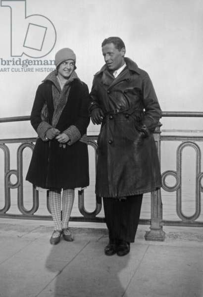 Paul Emile Victor (1907-1995) french explorer and ethnologist, here with his sister Lily, 1931 (b/w photo)