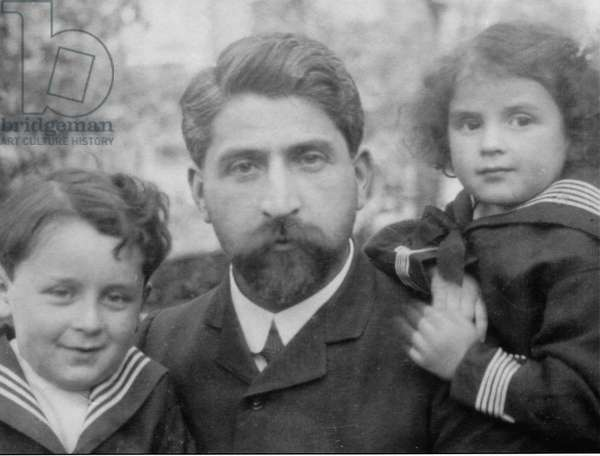 Paul-Emile Victor and Lily, 1912 (b/w photo)