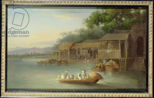 T33508 A Riverside Dwelling, Indo-China (see also 88852 for pair)