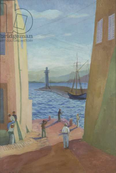 Harbour at St. Tropez, France, 1925 (oil on canvas)