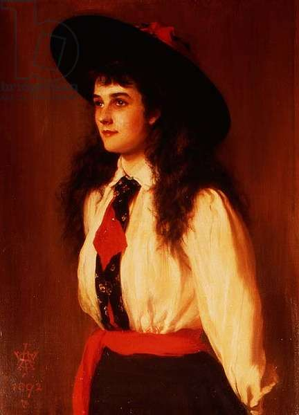 Portrait of a Young Woman said to be Miss Clare Davies, 1892