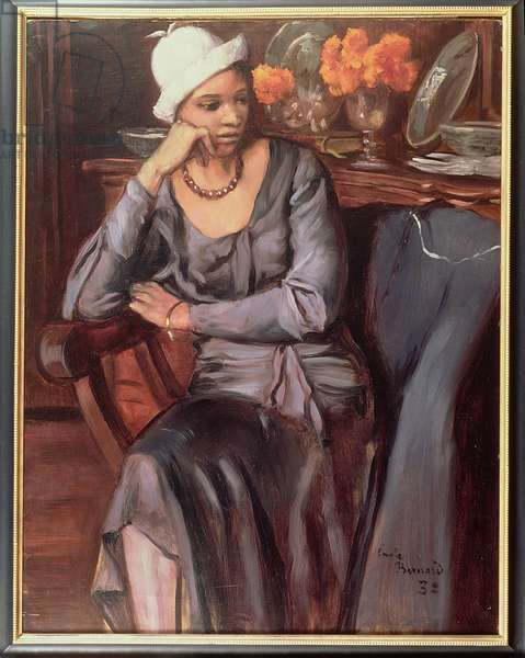 Negress with a Cloche Hat, 1932 (oil on board)