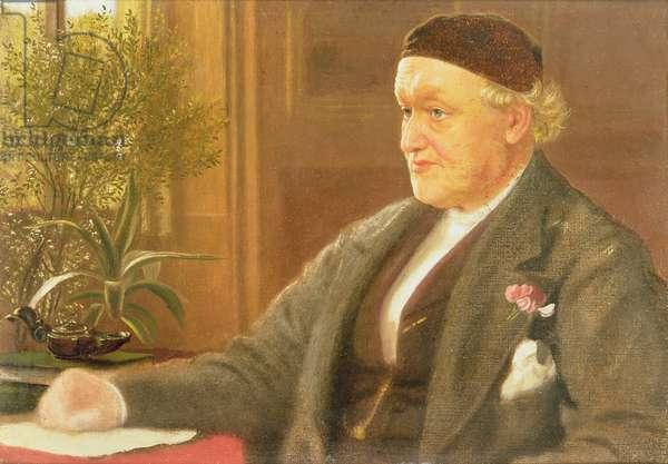 Portrait of William Bell Scott (1811-90), 1886 (oil on prepared board)