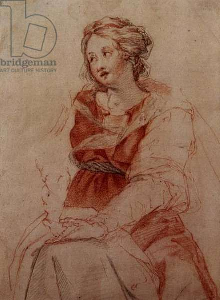 T31138 The Madonna and Child (chalk)