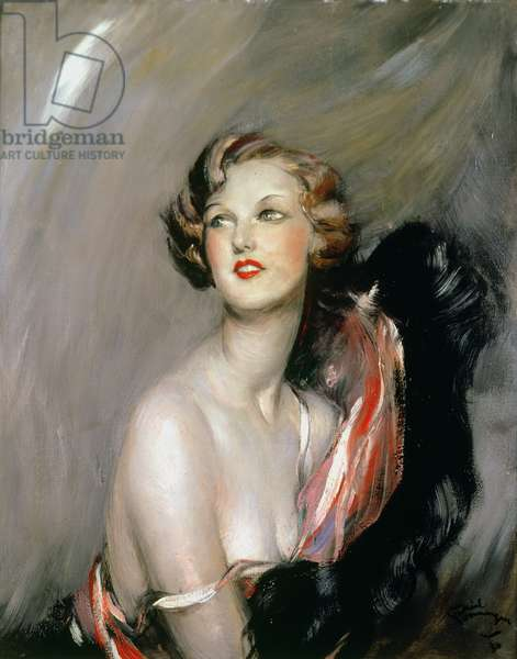Portrait of Madame O'Deril, 1930 (oil on canvas)