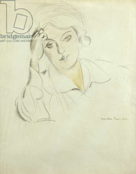 Portrait of Froanna, 1933 (pencil and watercolour)