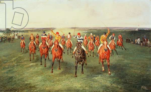 The Finish of the Two Thousand Guineas at Newmarket