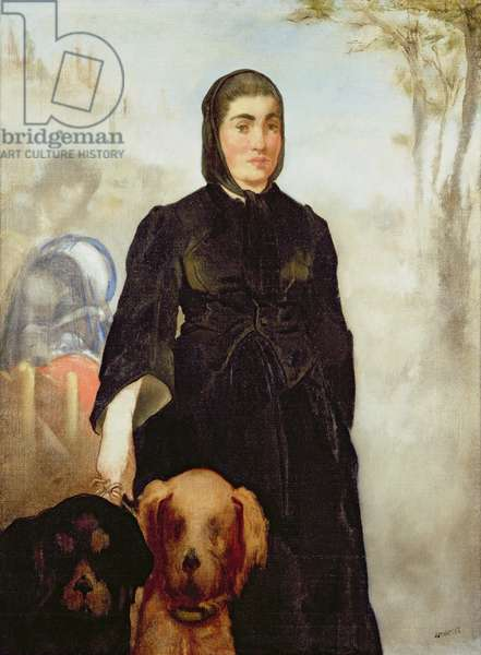 Woman With Dogs, 1858 (oil on canvas)