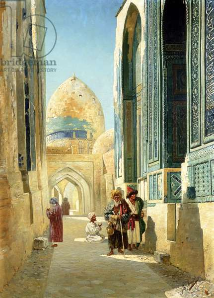 Figures in a Street Before a Mosque, 1895 (oil on canvas)