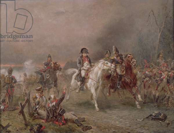 Napoleon's Retreat (oil on canvas)