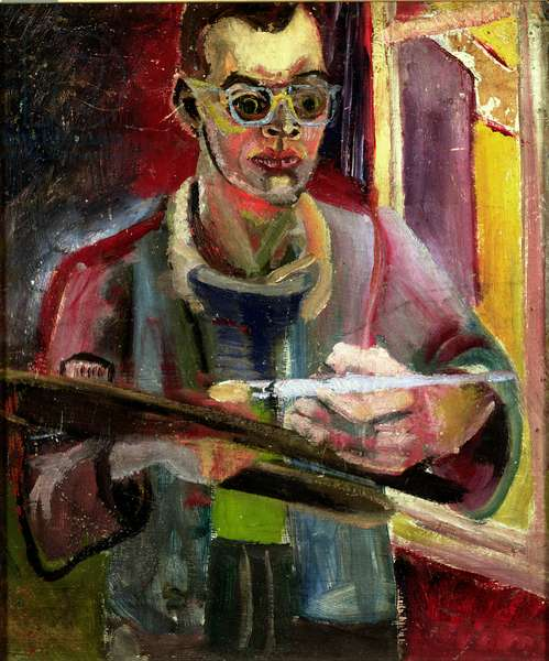 Self Portrait When 21 Years, Teddington, 1949 (oil on board)