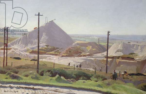 Leswidden Pit, 1920 (oil on canvasboard)