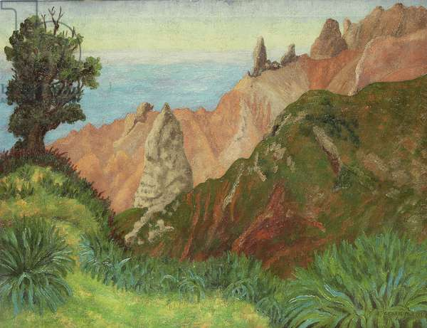 Landscape, St Helena, Lot and Lot's Wife, 1965 (oil on canvas)
