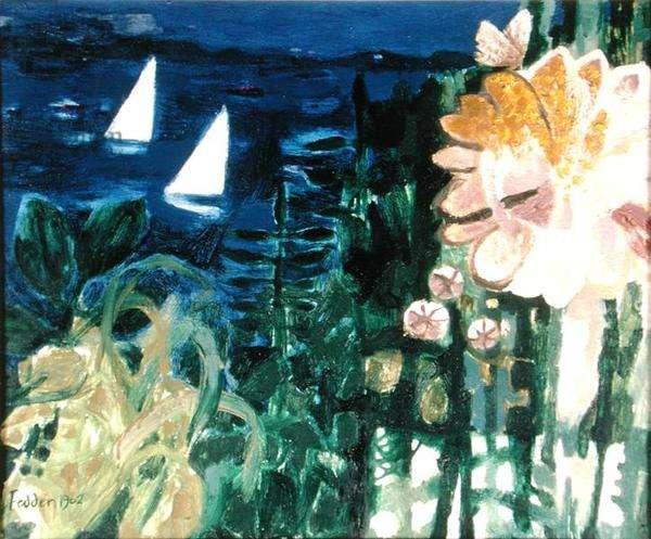 Distant Sails, 1962 (oil on canvas)