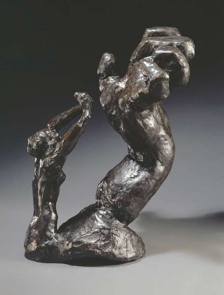 Clenched Hand and Imploring Figure (bronze)