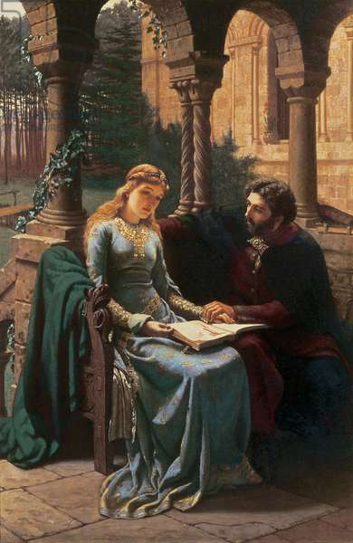 T33385 Abelard (1079-1142) and his Pupil Heloise (1101-63), 1882 (oil on canvas)