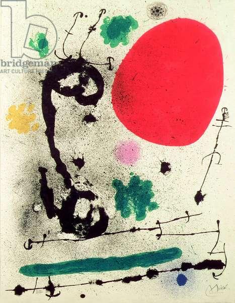 The Migrating Bird, 1970 (colour lithograph)