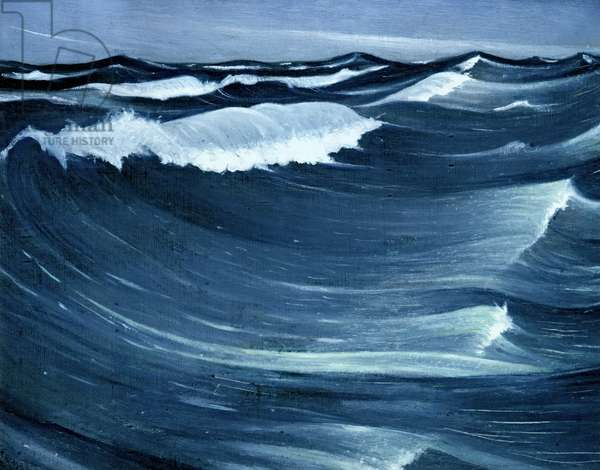Waves, c.1917 (oil on canvas)
