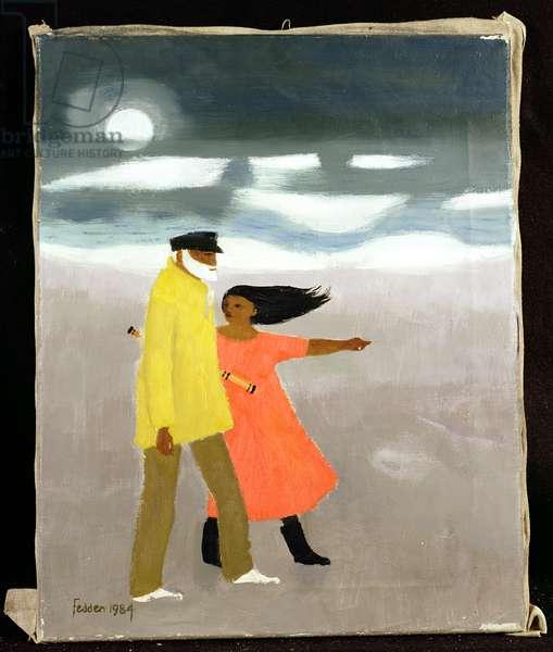 Moonlight on the Beach, 1984 (oil on canvas)