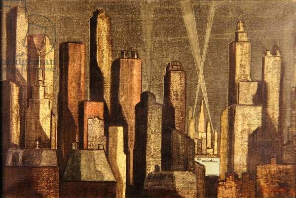 New York, 1956 (oil on canvas)