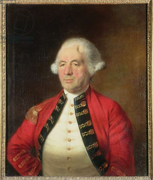 Portrait of Augustin Prevost (1723-86) in Uniform (oil on canvas) (for pair see 109326)