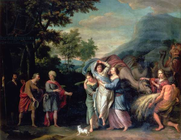Meeting of Jacob and Laban with Rachel, Leah and Servants