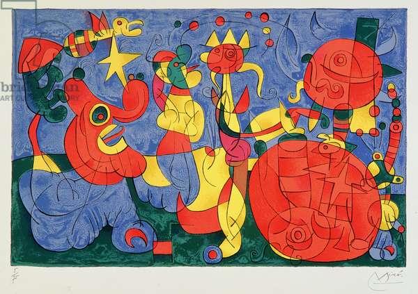 Ubu the King, 1966 (colour lithograph)
