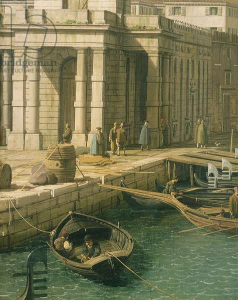 Entrance to the Grand Canal: Looking West, c.1738-42 (oil on canvas) (detail) (see 160386&7)