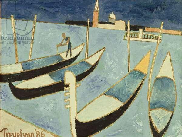 Venice, 1986 (oil on board)