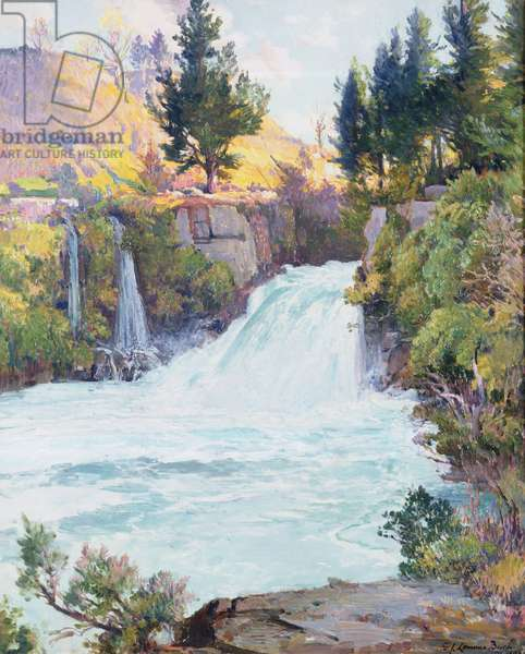 The Waterfall, New Zealand, 1937 (oil on canvas)