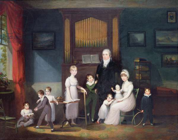 Family Group in an interior, c.1800