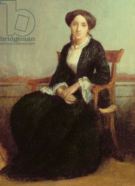 Portrait of Genevieve Celine, 1850 (oil on canvas)
