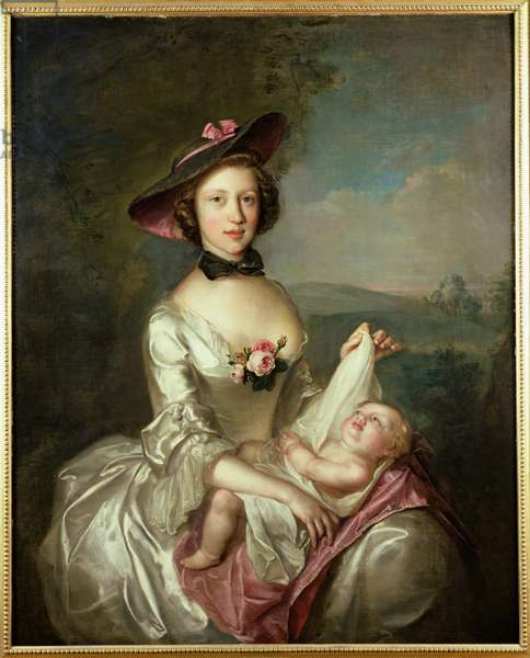 Portrait of a Lady, said to be Elizabeth, wife of Robert Boyd of Castle Law, 1750 (oil on canvas)
