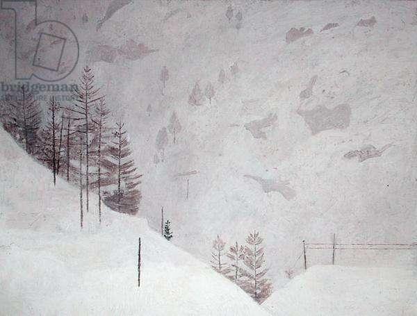 Snow at Zermatt, 1955 (oil on canvas)