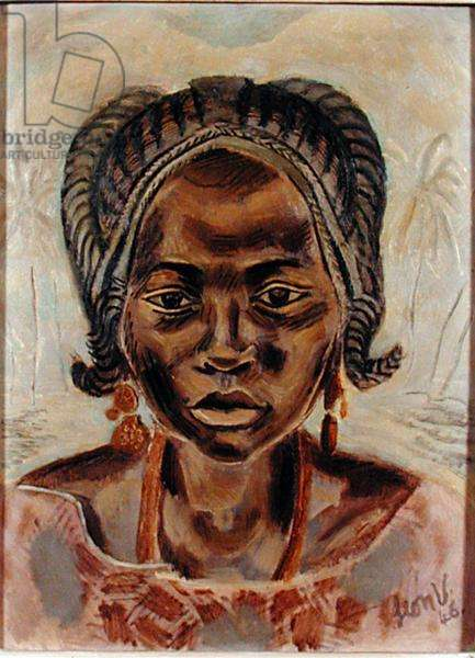 West African Girl, 1946 (oil on board)