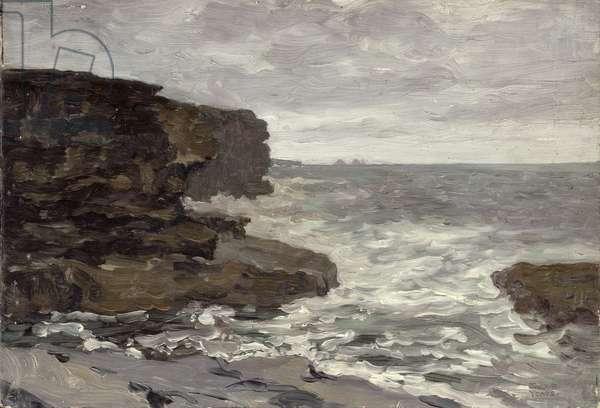 The Coast of Mayo (oil on panel)