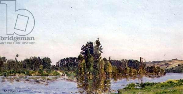 Lake at Sunset, 1894 (oil on panel)