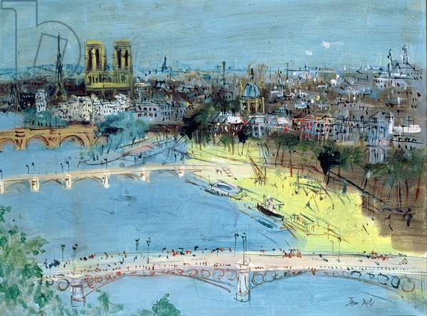 The Pont du Carrousel (oil on canvas)
