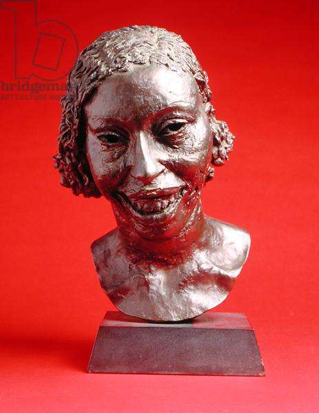 Third Portrait of Lydia (Laughing) (bronze with brown patina)